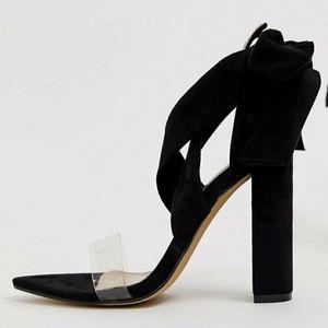 Public Desire Jordy Ankle Tie Block Heels - 8 US